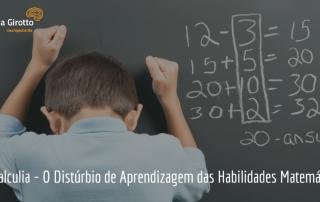 Discalculia Distúrbio da Aprendizagem